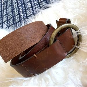 American Eagle leather belt adjustable loop brown